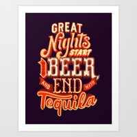 Great nights Art Print