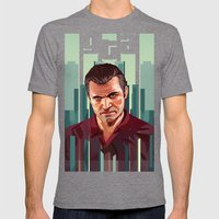 The Godfather, GTA 5 Michael Mens Fitted Tee Tri-Grey SMALL