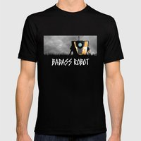 Badass Robot Mens Fitted Tee Black SMALL