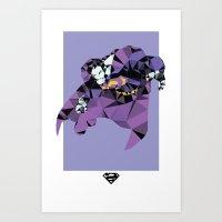 Bizarro Polygon Mesh Art Print