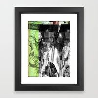 stop lookinf Framed Art Print