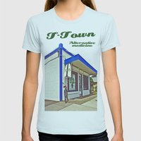 T-Town Alternative Medicine Womens Fitted Tee Light Blue SMALL