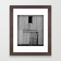 The Ole Shed Door Abstract Framed Art Print