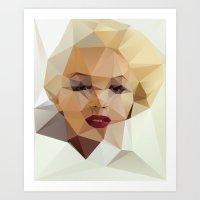 portrait Art Prints featuring Monroe. by David