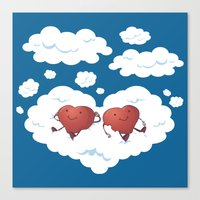 DREAMY HEARTS Canvas Print