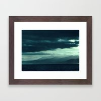Coastal Mountain Sunrise Framed Art Print