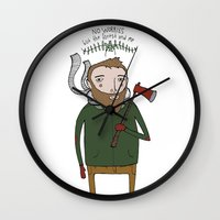 No Worries Woodsman Wall Clock