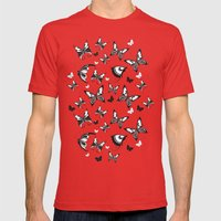 Butterflies in Flight 2 Mens Fitted Tee Red SMALL