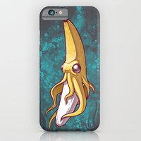 iPhone & iPod Case featuring Banana Squid!!! by Chump Magic