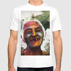 Old Mens Fitted Tee SMALL White