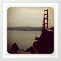 San Frans Cloudy Day Art Print