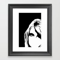 look in Framed Art Print