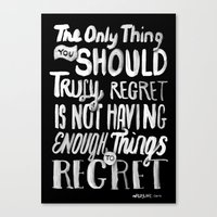 TRULY REGRET Canvas Print