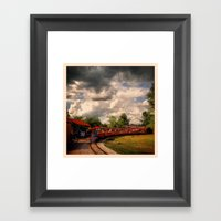 Zoo Train Framed Art Print
