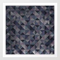 Moody Mosaic Art Print