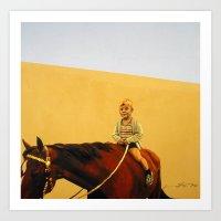 Boy On Horse Art Print