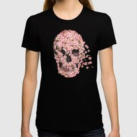 A Beautiful Death  Womens Fitted Tee Black SMALL