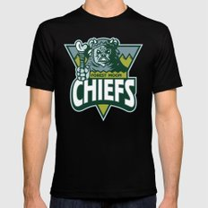 Forest Moon Chiefs - Green SMALL Black Mens Fitted Tee