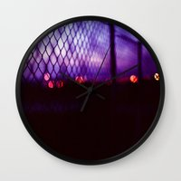 neon lights Wall Clock