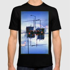America ducking the question of origins (35mm multiple exposure) Mens Fitted Tee Black SMALL
