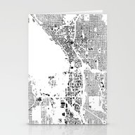 Stationery Cards featuring Seattle Schwarzplan by City Map Art