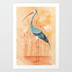 An Exotic Stork Art Print