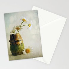 Daisies in a Handmade Vase Susan Weller Stationery Cards