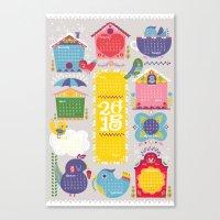 Home Tweet Home 2015 Cal… Canvas Print