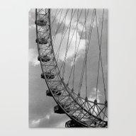 Canvas Print featuring London Eye by Julio O. Herrmann