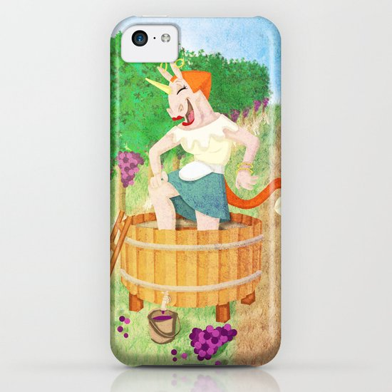 Grape Stomping Unicorn iPhone & iPod Case