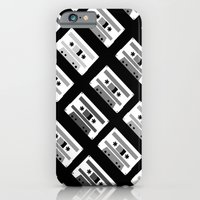 Black And White Tapes 45 iPhone 6 Slim Case