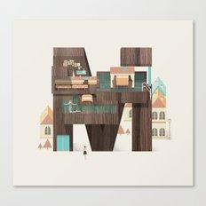 Resort Type - Letter M Canvas Print