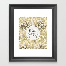 Treat Yo Self – Gold Framed Art Print