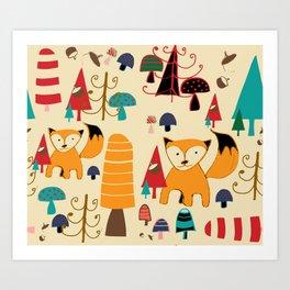 Art Print - woodland fox - BruxaMagica_susycosta