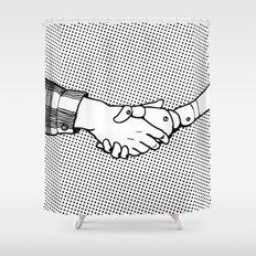 Man and Machine Shower Curtain