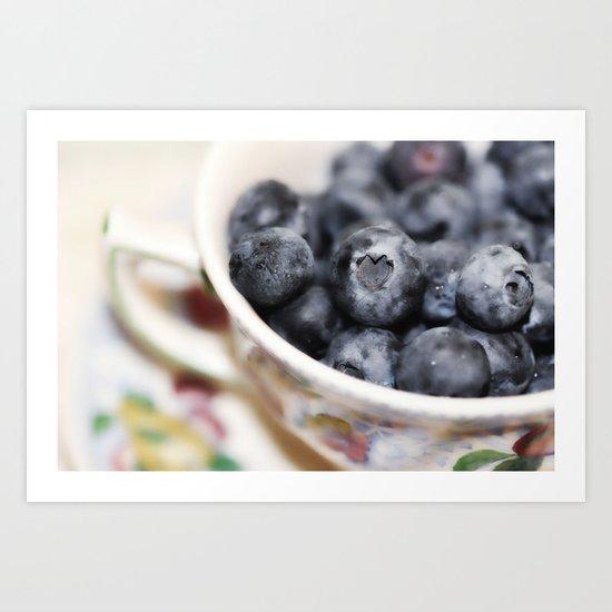 Beach Blanket Blueberry: Blueberry Love... Art Print By Lisa Argyropoulos