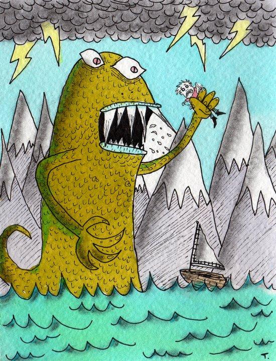 Sea Beast Art Print