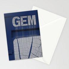gem blue Stationery Cards