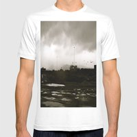Homer Spit  Mens Fitted Tee White SMALL