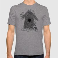 Rebuild Mens Fitted Tee Tri-Grey SMALL