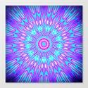 Pink Lavender Turquoise Mandala Canvas Print
