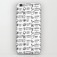 White Magic Print iPhone & iPod Skin
