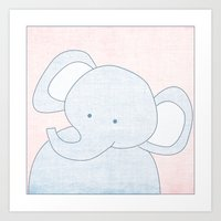 Elephant Jungle Series Print Art Print