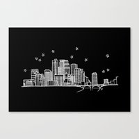 Minneapolis, Minnesota City Skyline  Canvas Print