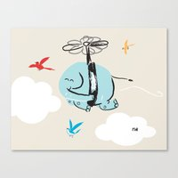 When Elephants Dream Canvas Print