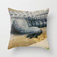 The Alligator Crawl Throw Pillow