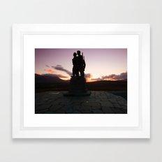 The Commando Monument Framed Art Print