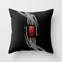skeleton key Throw Pillow