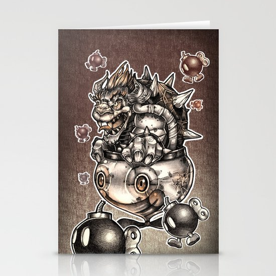 BOMBS AWAY BOWSER Stationery Card