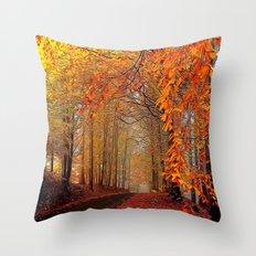 Autumn Parade Throw Pillow